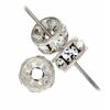 Rhinestone Rondelle (Flat Round) 5mm Silver/Crystal